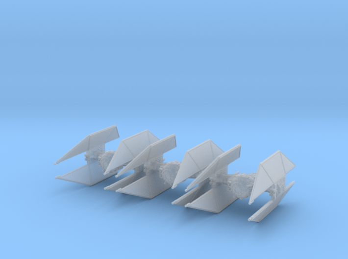 TIE Avenger Wing 1/270 3d printed