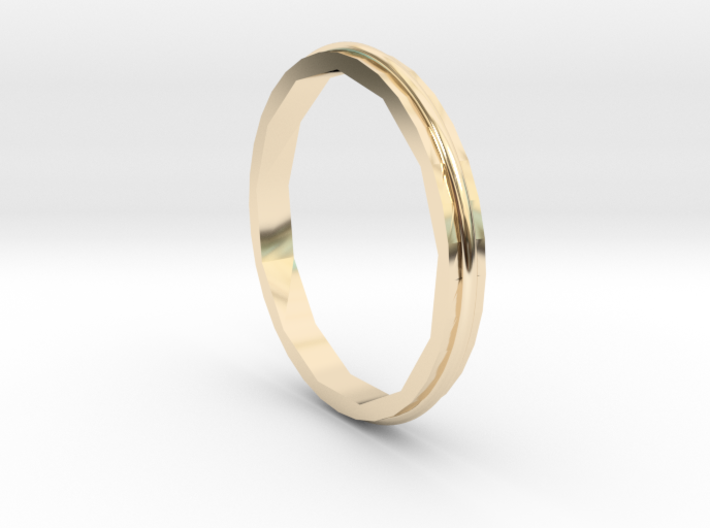 Square Two Ring - Sz. 5 3d printed