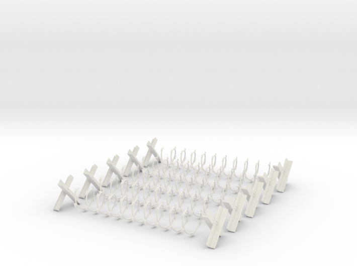 Razor Wire (Qty: 5) 3d printed