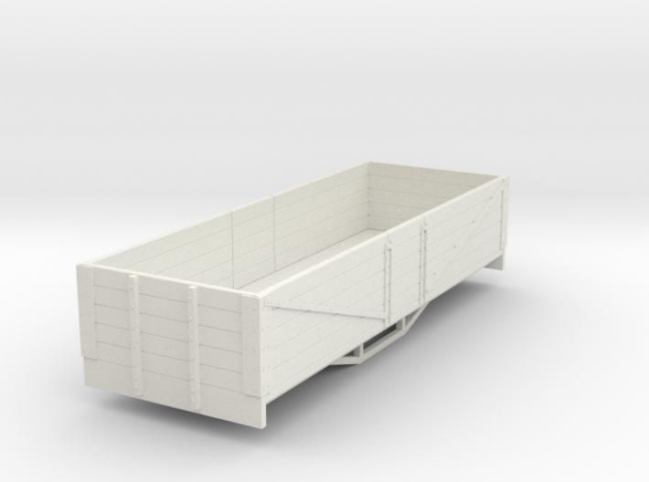 OO9 bogie 5 plank open wagon (short) 3d printed