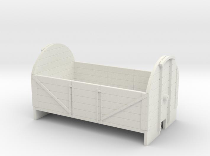 OO9 5 plank tarpaulin wagon 3d printed