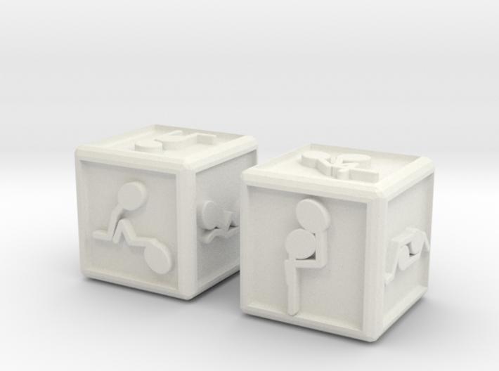 sensual dice 3d printed