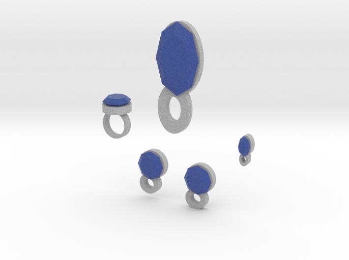 Lara Blue Set 3d printed