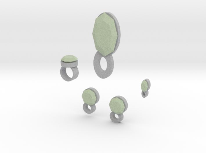 Lara Jade Jewelry Set 3d printed