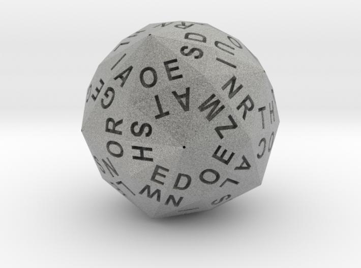 d120 Alphabet Dice 3d printed