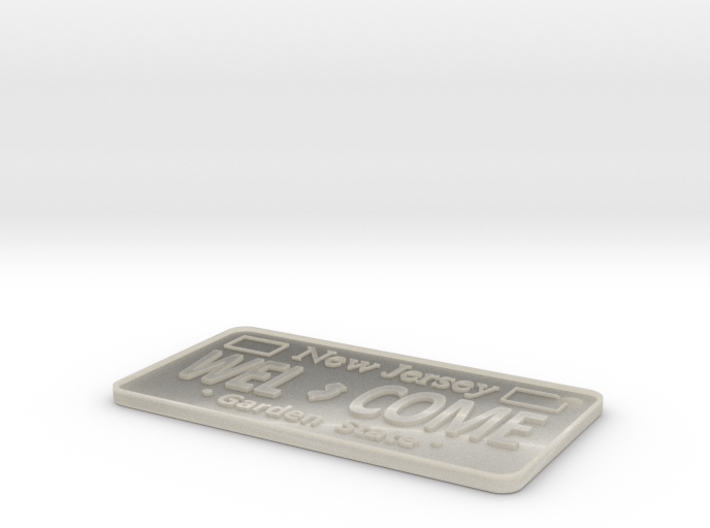 Welcome License Plate Key chain 3d printed