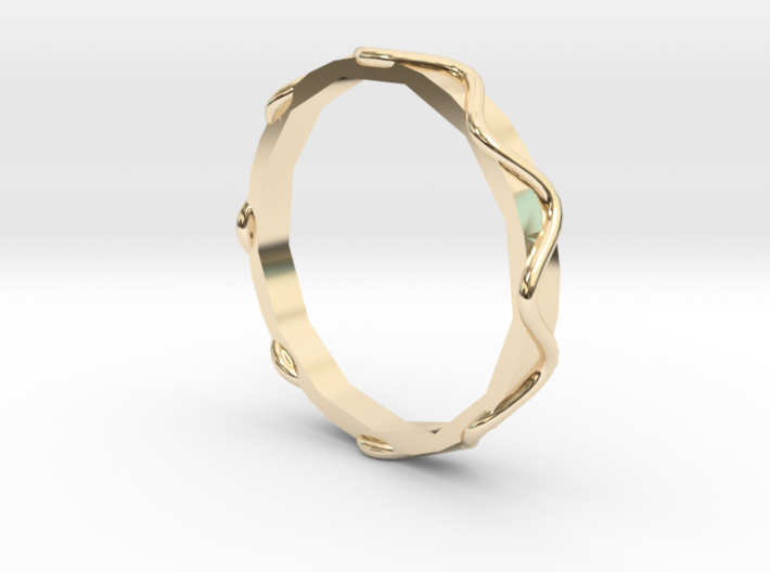 Waves Ring - Sz. 6 3d printed