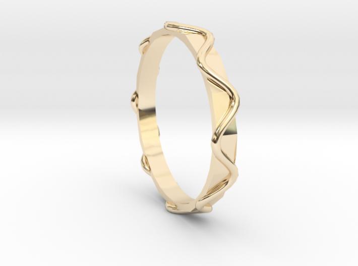 Waves Ring - Sz.8 3d printed