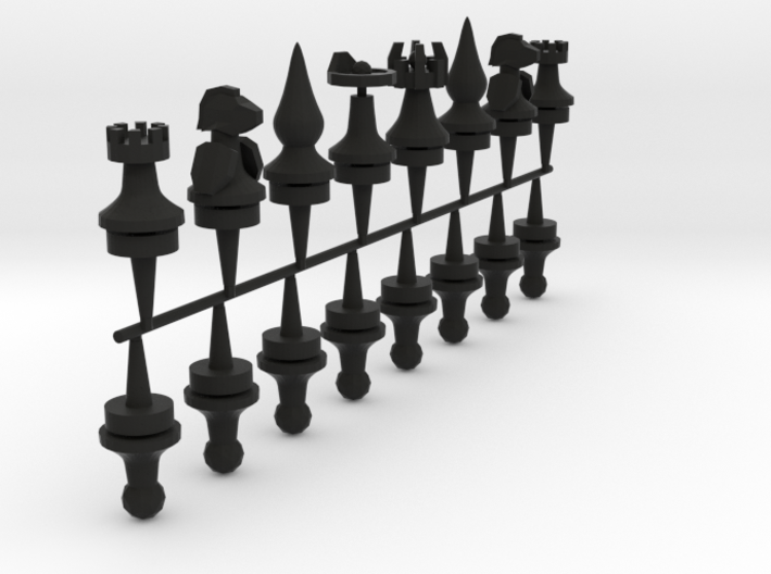 chess pieces type b 3d printed