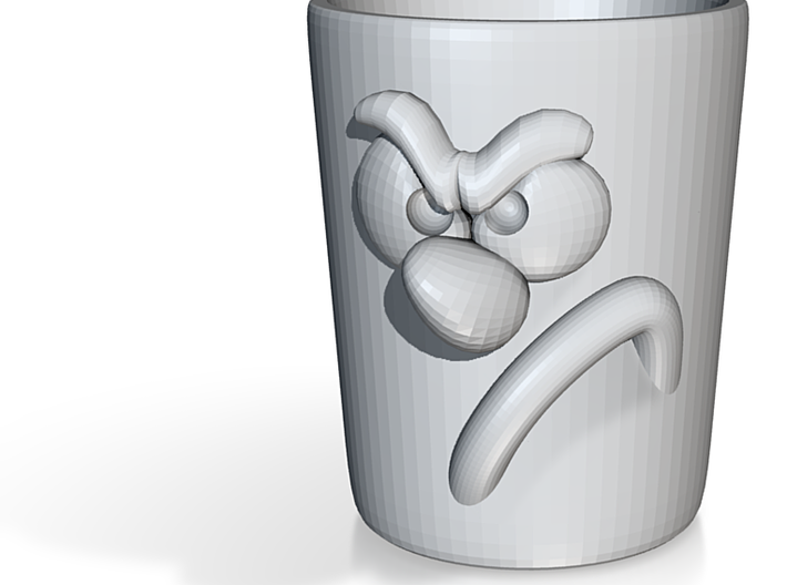 Cup Angry 3d printed