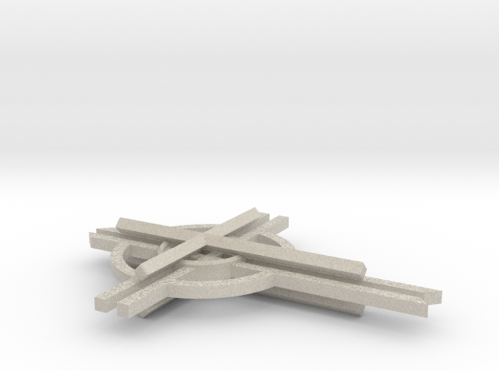 "5"" Anglican Cathedral Cross  3d printed"