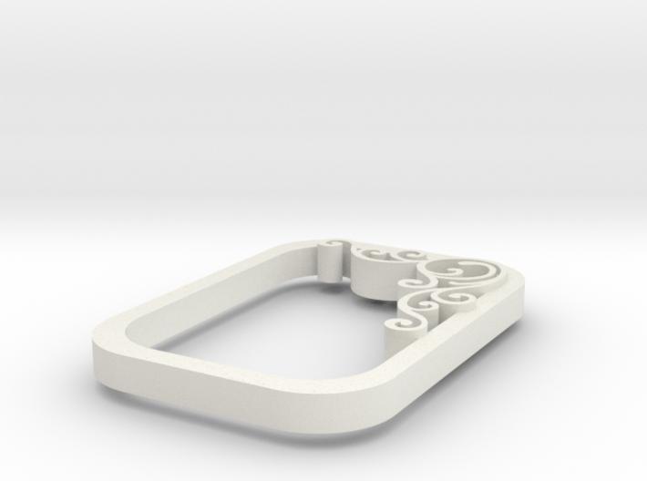 square swirl pendant 2 3d printed
