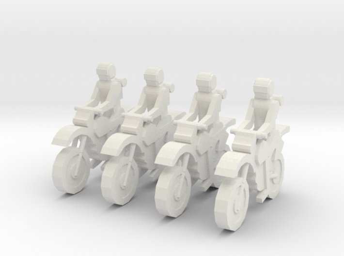 MG8701A Dirt Bike Team (x4) 3d printed