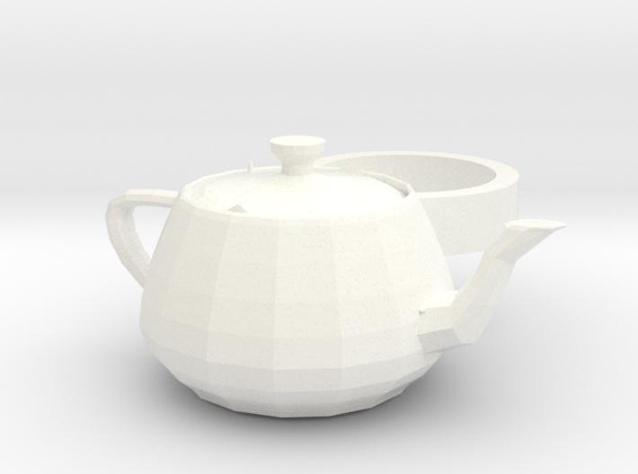 3ds Max Tea Pot ring 3d printed