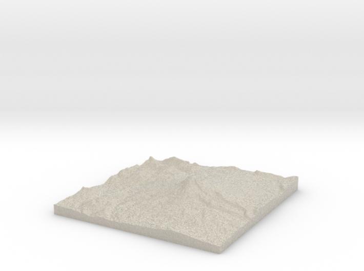 Model of Pinnacle Glacier 3d printed