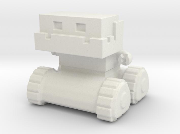 Robot 0052 Jaw Bot Tread Robot v1 3d printed