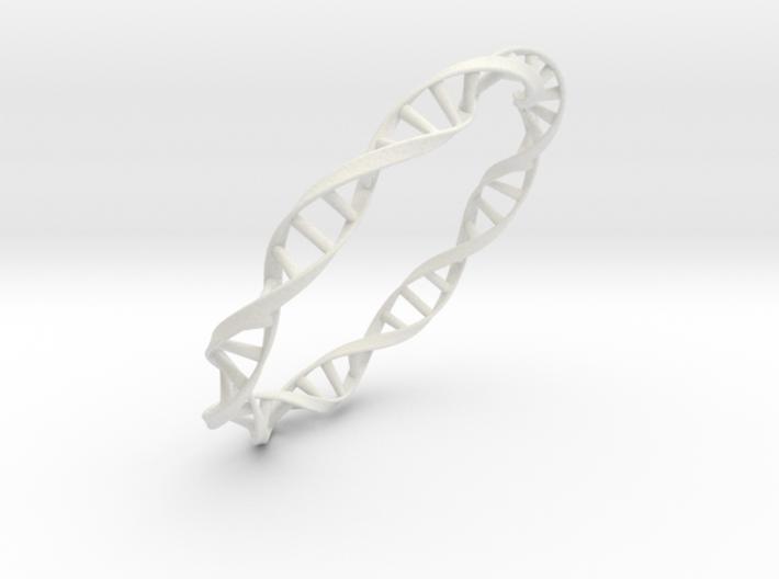 DNA Moebius bracelet (large) 3d printed