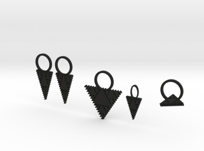 Tessellation Triangle Jewelry Set 3d printed