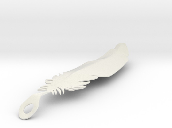 single feather 3d printed