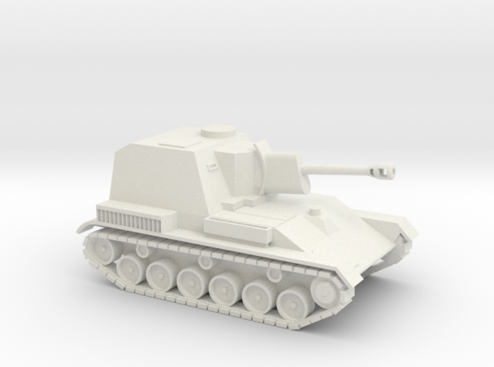 SU-76 1/87 scale Soviet SPG 3d printed