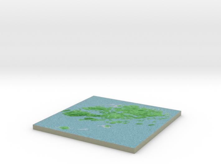 Terrafab generated model Mon Dec 09 2013 13:44:59 3d printed