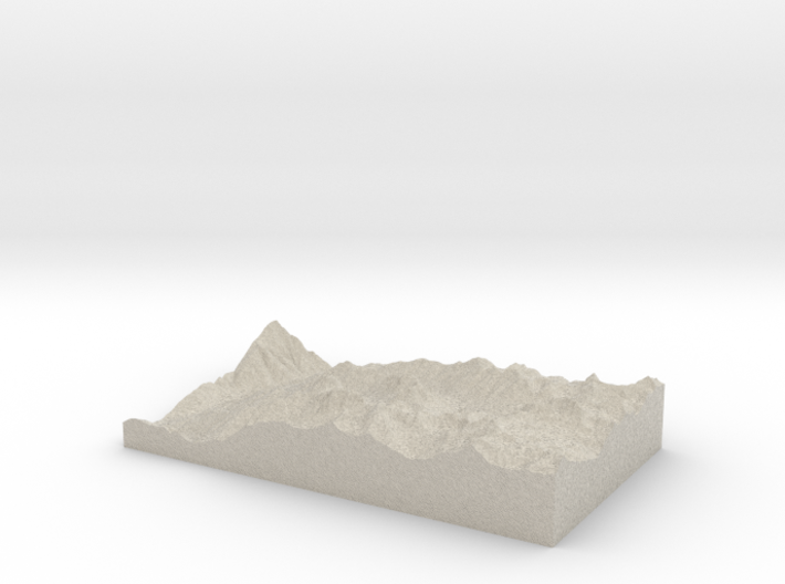 Model of Needleton 3d printed