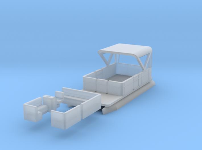 Pontoon Boat N 1:160 Flat Bottom 3d printed