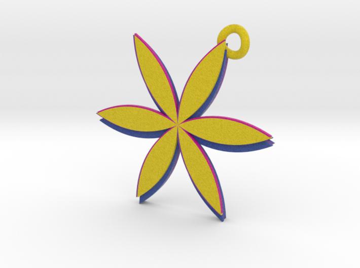 2 sided Flower Pendant 3d printed