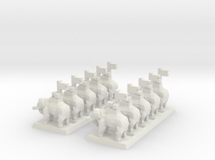 2mm Elephant (x10) 3d printed