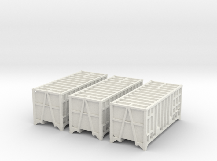 3x 20ft Manchester Binliner Containers N Gauge 3d printed