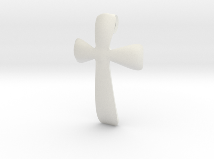 basic CROSS pendant 3d printed