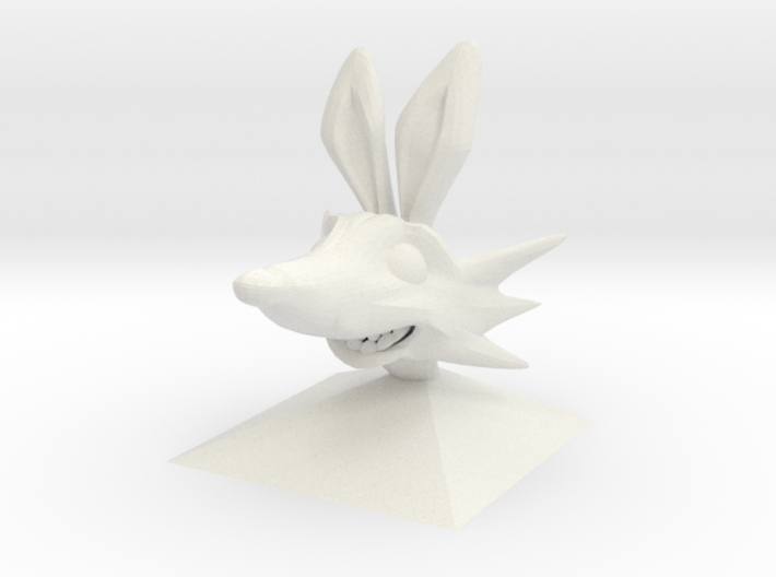 Fox Head (basic) 3d printed