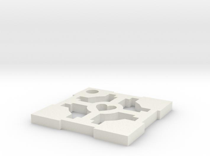 cube key 3d printed