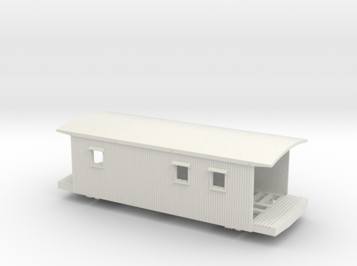 2011 VGN Caboose w/platform planks, window notches 3d printed
