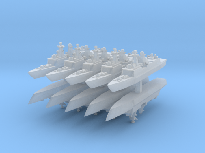 Type 054A 1:6000 x10 3d printed