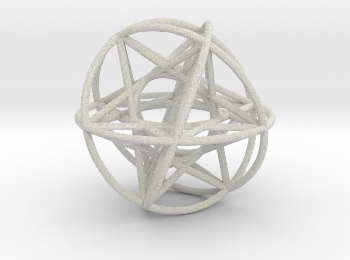 80 Cubeoctahedral Sphere Symmetry 48 x 3mm 3d printed