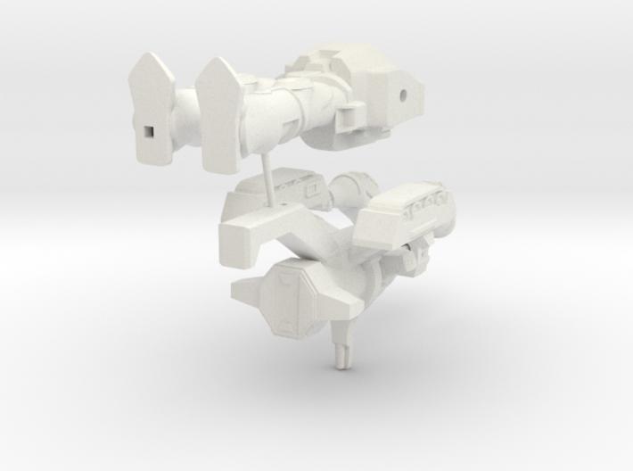 Galvatron with no barrels 3d printed