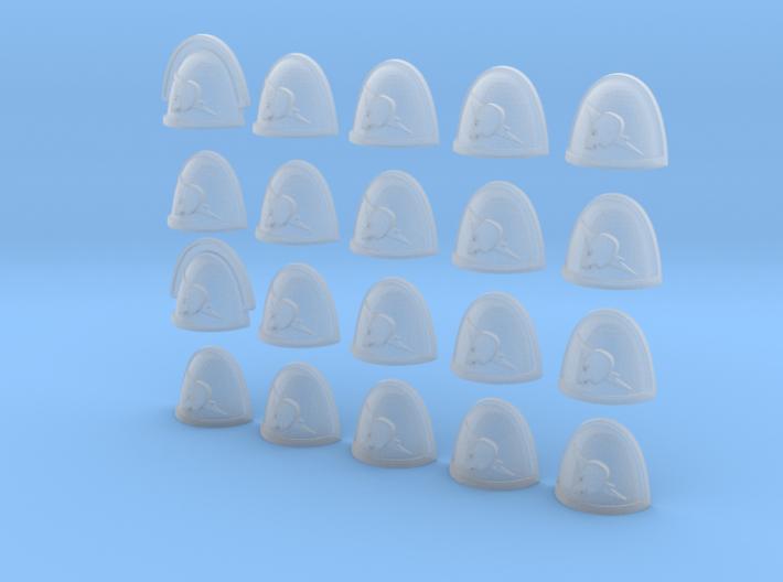 Lightning Skull - 20, 28mm Shoulder Pads 3d printed