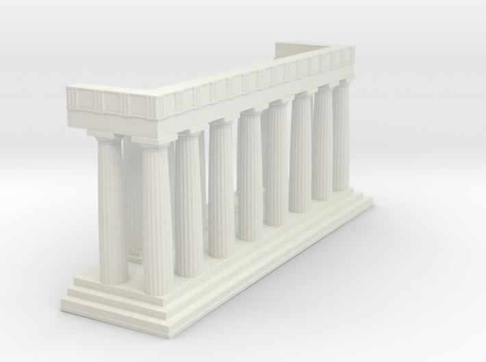1:150 Parthenon Eastern Facade 3d printed