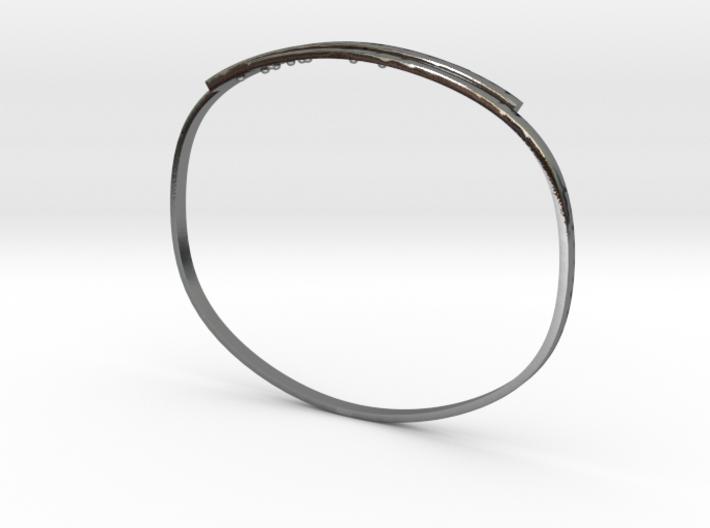 Bracelet avec inscription braille 3d printed