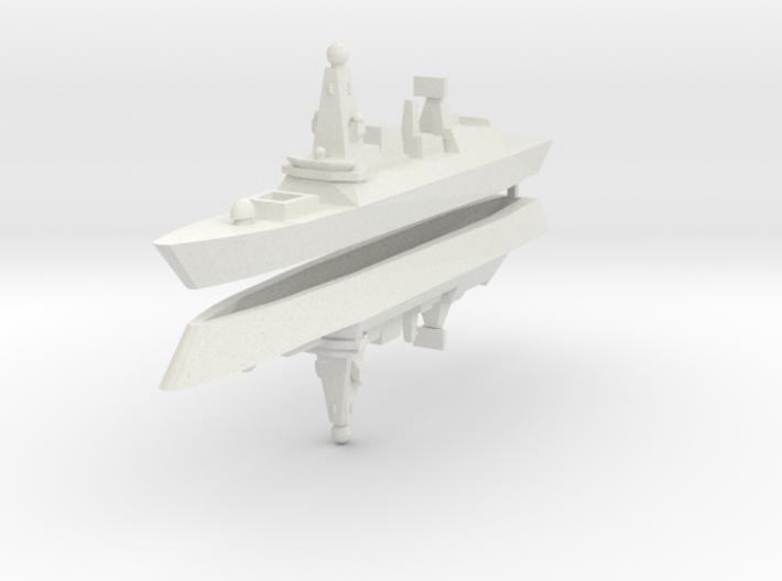 UK Type 45 1:2400 x2 3d printed