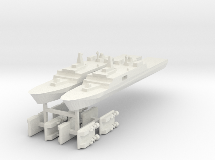 071 PLAN Amphibious Dock V2 + LCACs 1:3000 x2 3d printed