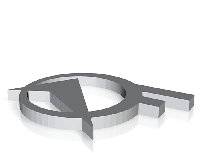 aof logo black 3d printed