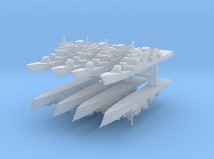 Maestrale frigate 1:6000 x8 3d printed