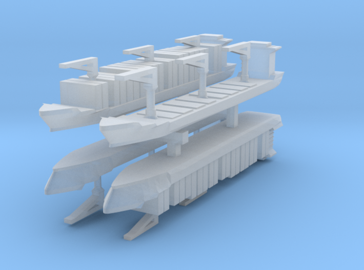 Xiamen Container Ship 1:6000 x4 3d printed
