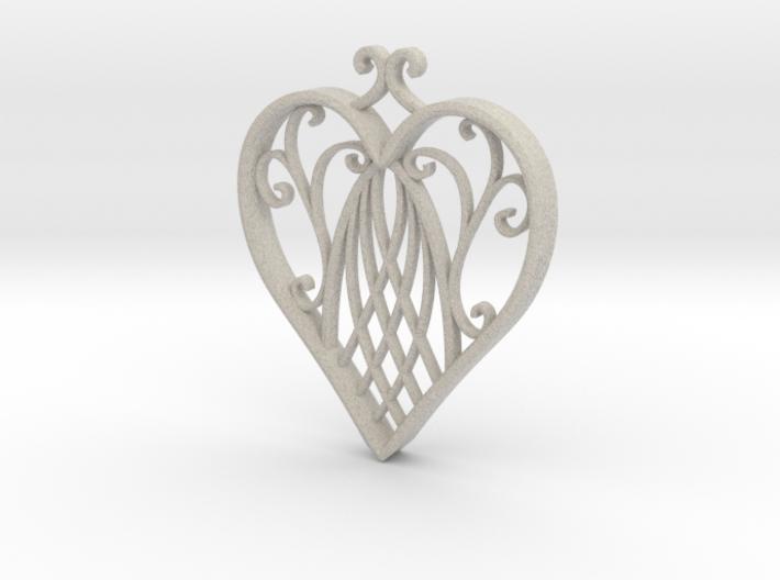 Heart Ornament 3d printed