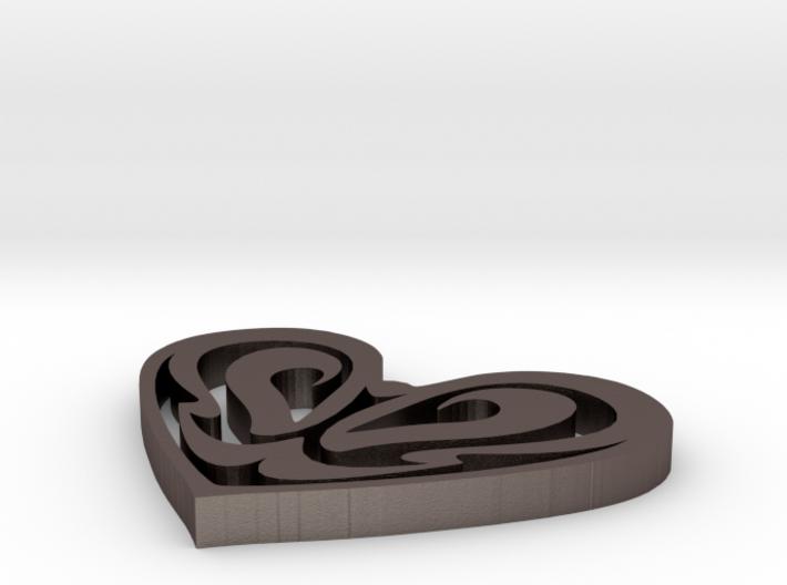 Art Nouveau Plant Heart 3d printed
