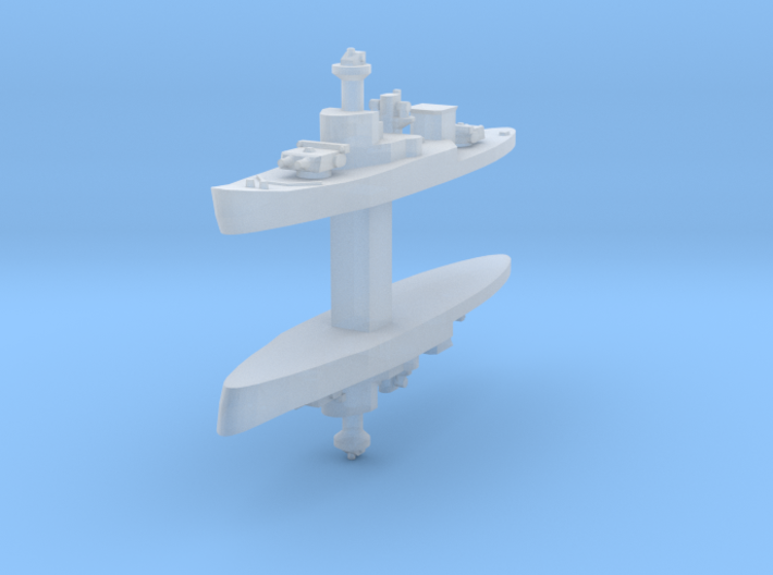 HTMS Thonburi 1:6000 x2 3d printed