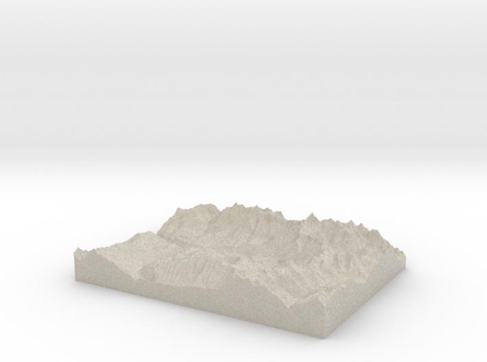 Model of San Miguel 3d printed