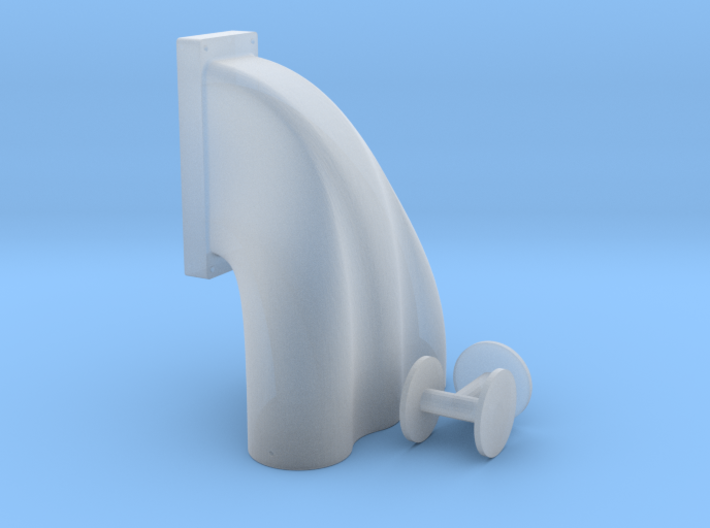 1/25 3 Equal Hole Inj Hat 14-71 Kobelco Blower 3d printed